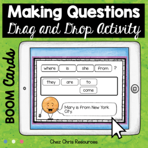 BOOM Cards : Making WH Questions