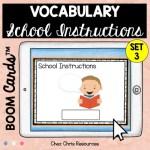 Couverture: les consignes de classe en anglais - écrire le mot correspondant