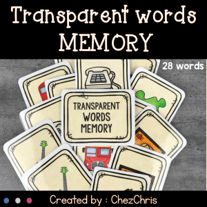 Transparent Words Memory Game