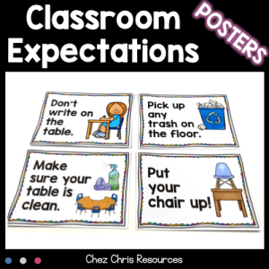 Posters : Classroom Manners and Expectations
