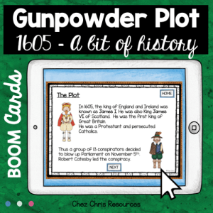 BOOM Cards : Learn about the Gunpowder Plot