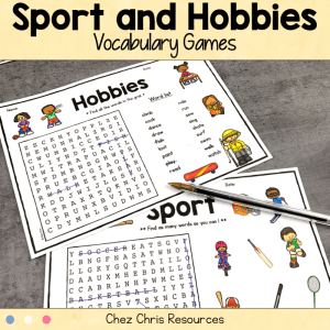Sport and Hobbies Vocabulary Games