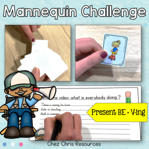 A Mannequin Challenge : Action cards + Task Cards
