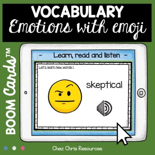 vignette sur le vocabulaire des émotions en anglais