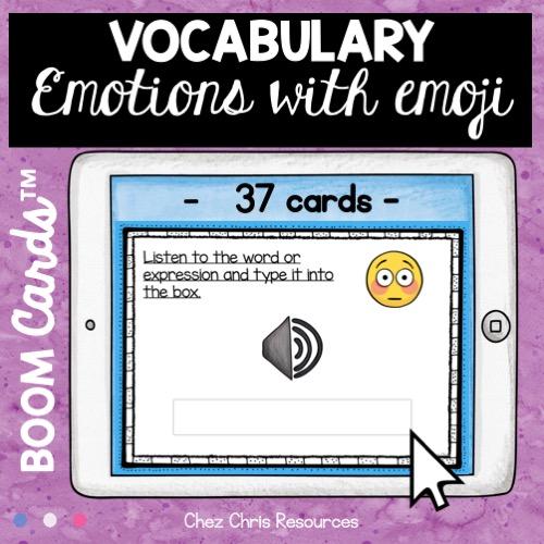 vignette 2 de la ressource sur les émotions en anglais : écoute et écris