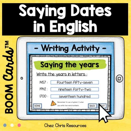 la date en anglais: écriture des années en anglais