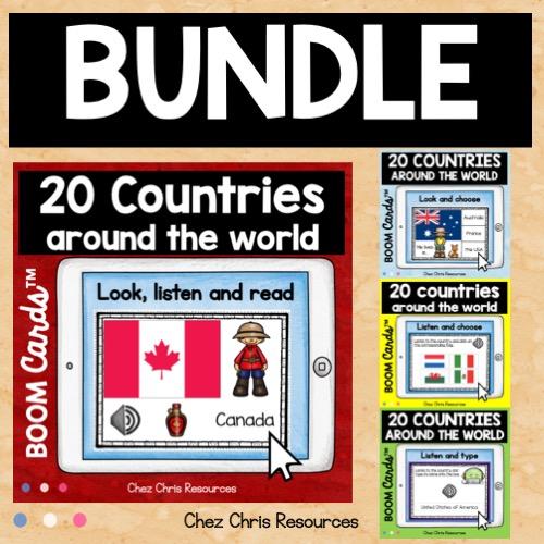 couverture du bundle sur les pays et drapeaux en anglais