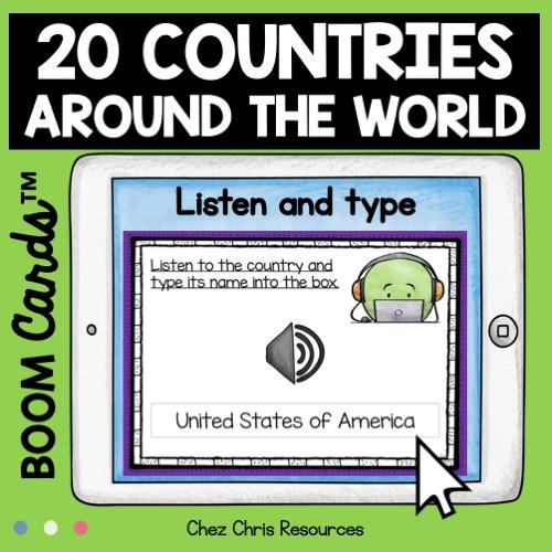 20 pays du monde en anglais: image de couverture