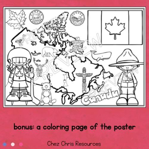 vignette du poster collaboratif sur les symboles du Canada