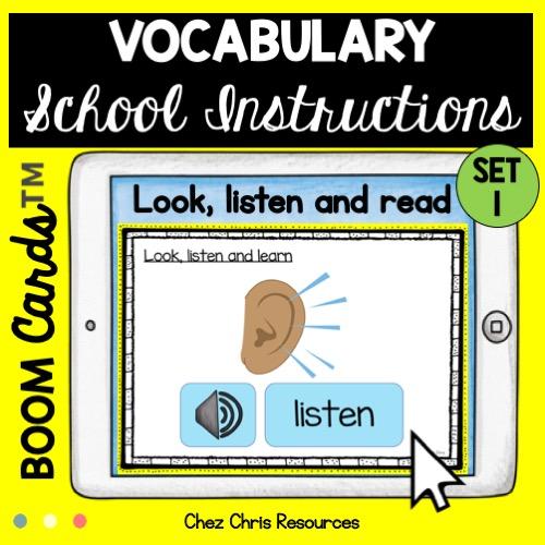 Les consignes de classe en anglais: écoute, regarde et lis