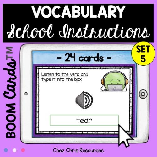 Dictée de mots autour des consignes de classe en anglais - vignette 2