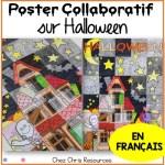 poster collaboratif pour halloween en français