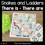 couverture du jeu Snakes and Ladders There is, There are, il y a en anglais