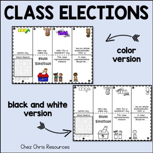 Election des délégués de classe: version couleur et noir et blanc