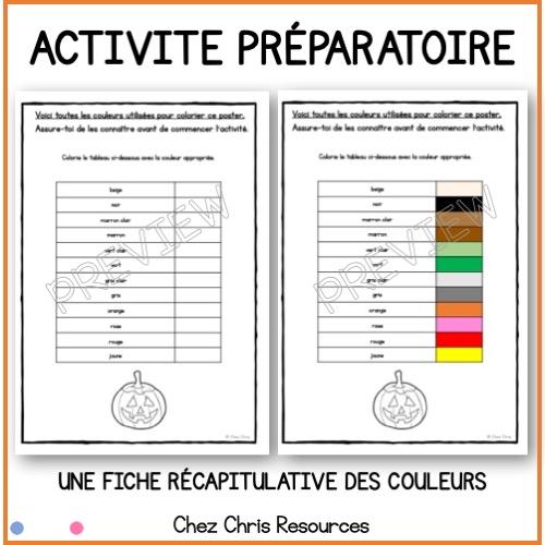 activité préparatoire sur les couleurs