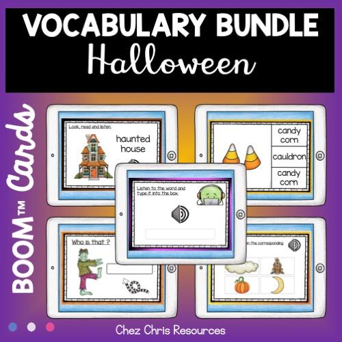 bundle de 5 ressources vocabulaire d'halloween
