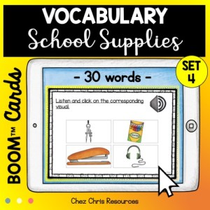 30 mots de vocabulaire sur le matériel scolaire en anglais