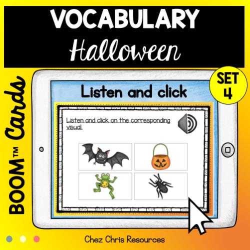 Vocabulaire d'Halloween : 30 mots à écouter et à choisir