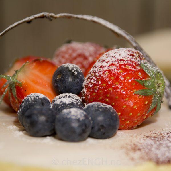 Fraisier med blåbær