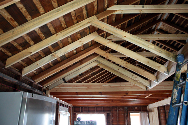 Vaulted ceiling construction for Vaulted ceiling trusses