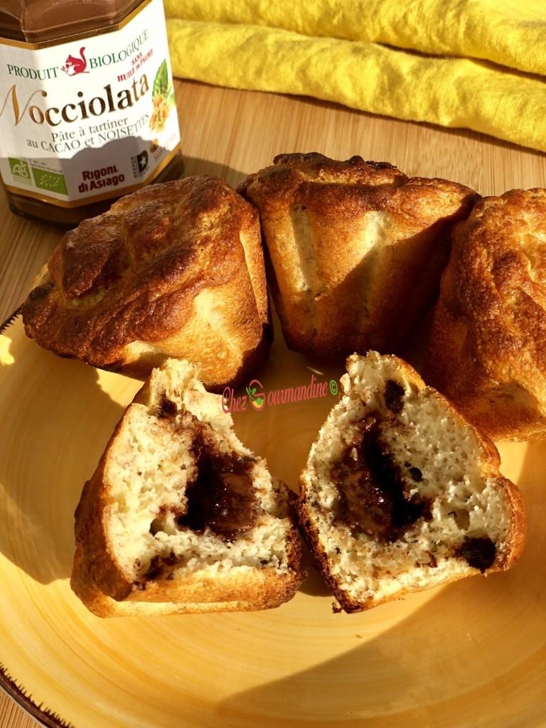 Muffins coco coeur coulant Nocciolata