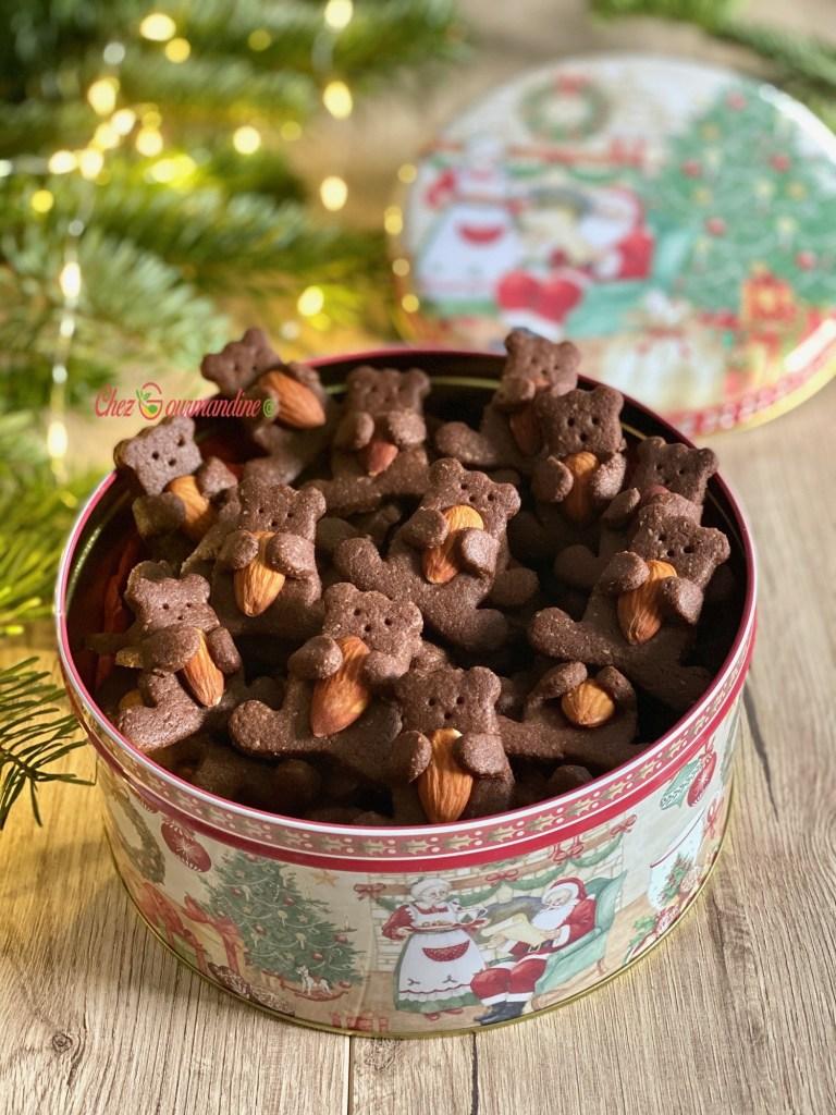 Sablés oursons chocolat amande