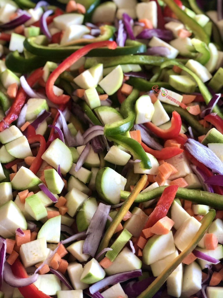 Légumes rôtis au vin blanc