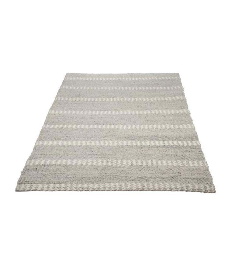 tapis en laine blanc et gris clair