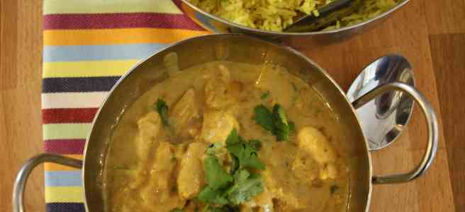Coconut and Cardamom chicken. This aromatic dish is full garlic, ginger, chilli, coriander, coconut and whole and ground cardamom.
