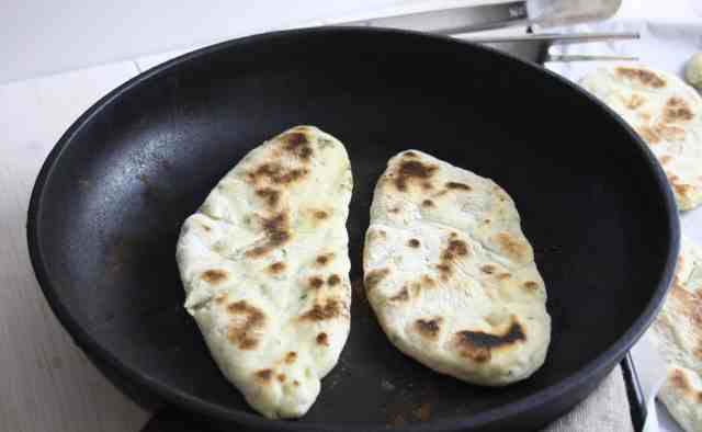 This Naan Bread is simple to make in a food mixer and no messy rolling out. Cooked in a hot pan, this bread is perfect for dipping in your favourite curry.