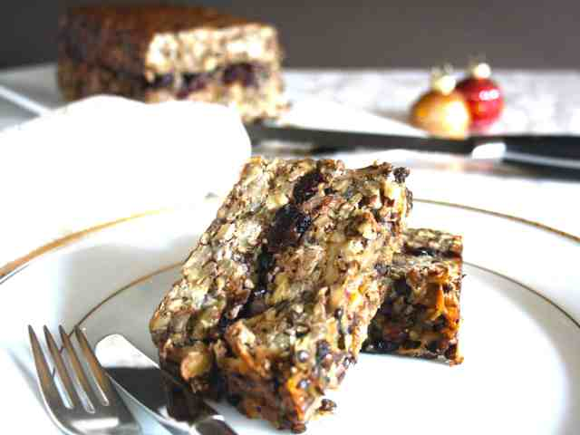 Lentils, chestnuts, hazelnuts and walnuts form the basis for this gluten free, vegetarian nut terrine that is also a great accompaniment for turkey.