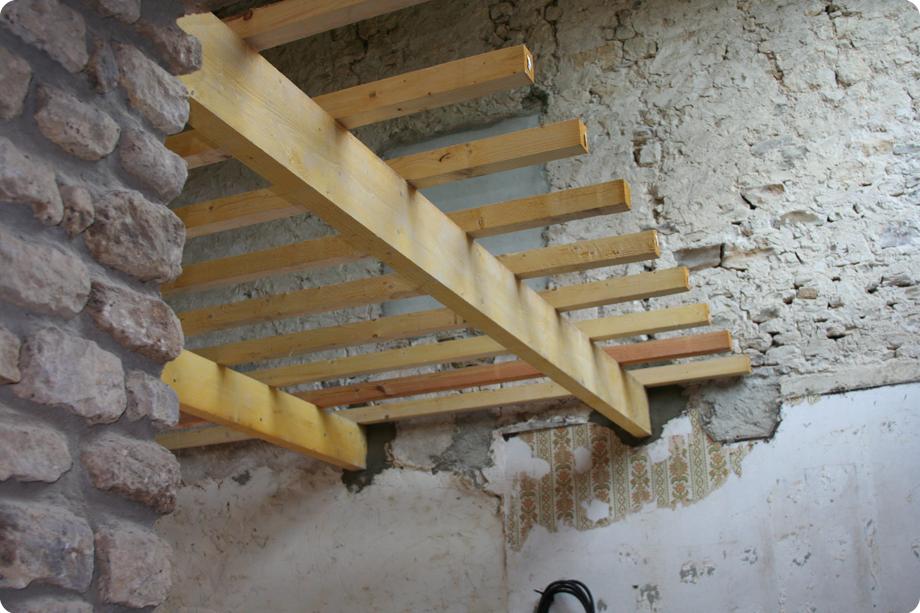 Mezzanine  Chez les 23  Restauration dune maison en pierre