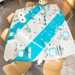 mariage lego table bleu turquoise