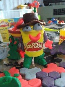 Notre mascotte en pâte à modeler