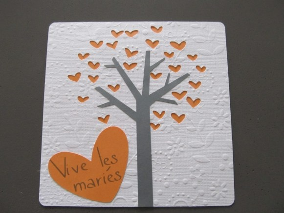 Carte mariage orange