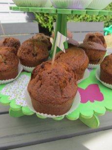muffin sur présentoir papillon