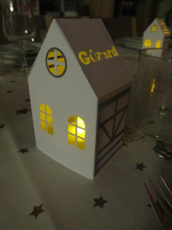 maisonnette illuminée table de noel (10)