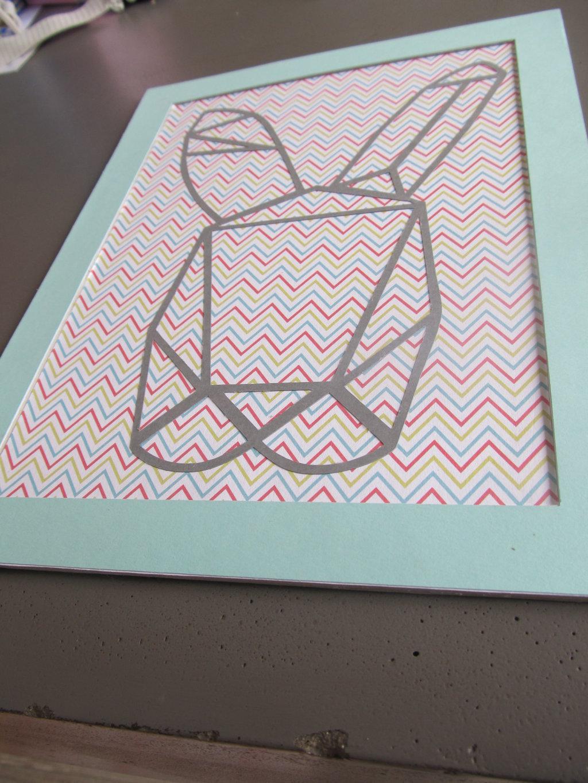 cadre lapin origami (4)