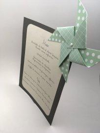 menu gris mariage