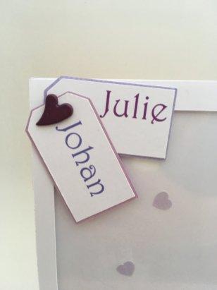 carte personnalisée mariage
