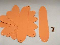 Citrouille en papier bande orange DIY