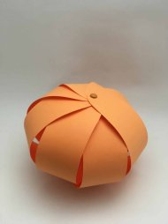 Citrouille en papier orange boule DIY