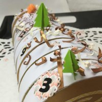 Un calendrier de l'Avent en forme de buche de Noël