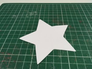 étoiles en volume plate