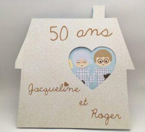 anniversaire de mariage carte maison