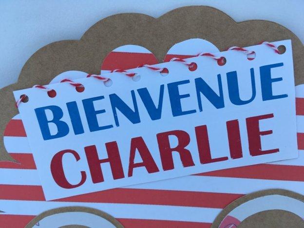 carte de naissance Charlie carnet à spirales