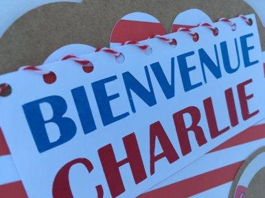 carte de naissance Charlie le texte