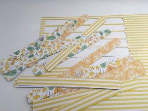 Carte ronde façon cocarde bandes de papier