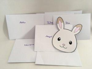 invitation d'anniversaire sylvanian enveloppe