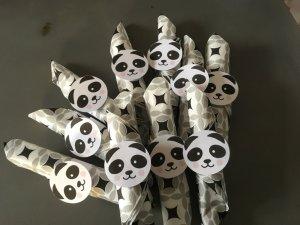 anniversaire panda rond de serviette